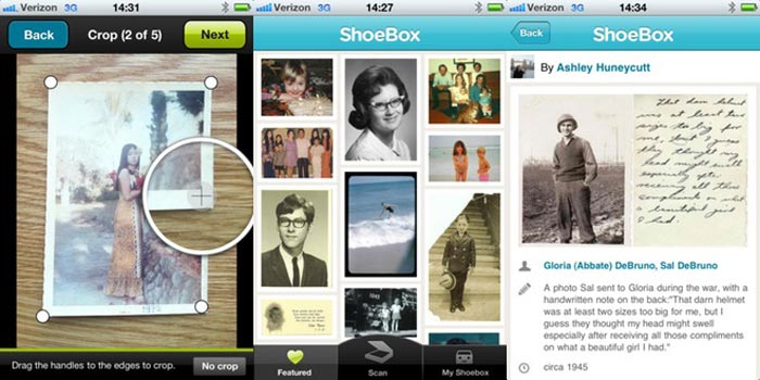 shoebox app de escaneado