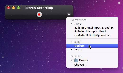 capturar pantalla con quicktime