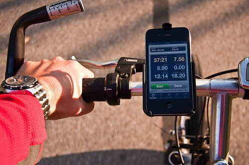 Cylcing with Cyclemeter